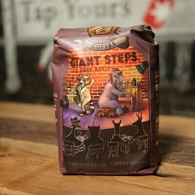 Dark Matter Giant Steps Whole Bean Dark Roast Blend 12oz Bag