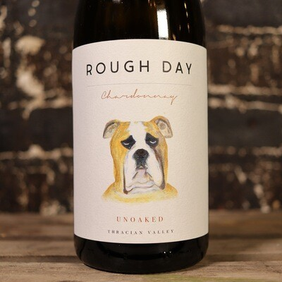 Rough Day Unoaked Chardonnay Bulgaria 750ml.