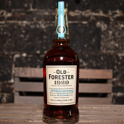 Old Forester 1920 Prohibition Style Bourbon Whisky 750ml.