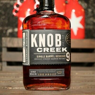 Knob Creek Single Barrel Reserve Kentucky Straight Bourbon Whiskey 750ml.