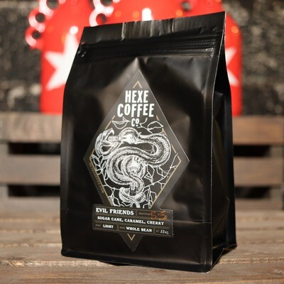 HEXE Evil Friends Light Roast WHOLE BEAN 12 OZ.
