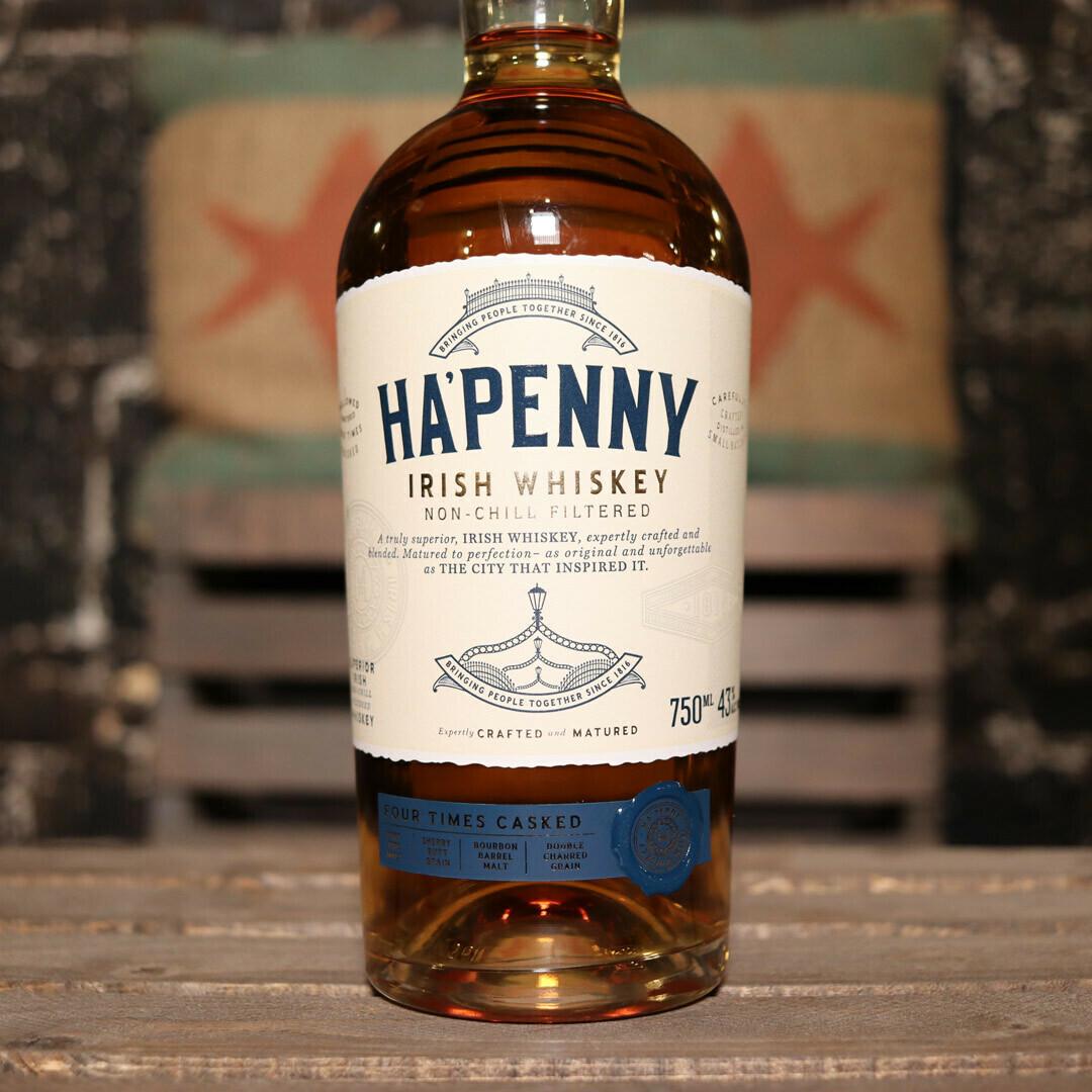 Ha' Penny Irish Whiskey 750ml.