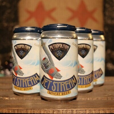 Metropolitan Jet Stream Wheat Beer 12 FL. OZ. 6PK Cans