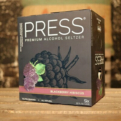 Press Hard Seltzer Blackberry Hibiscus 12 FL. OZ. 6PK Cans