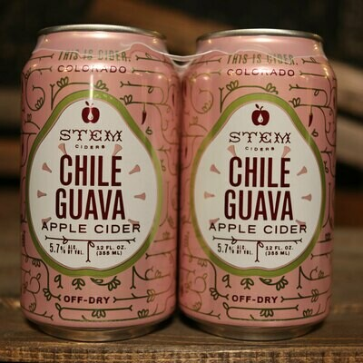 Stem Cider Chili Guava 12 FL. OZ. 4PK Cans