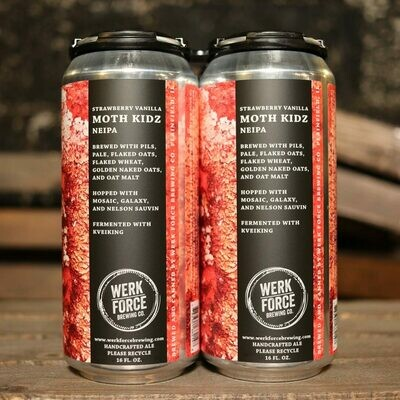 Werk Force Strawberry Vanilla Moth Kidz NEIPA 16 FL. OZ. 4PK Cans
