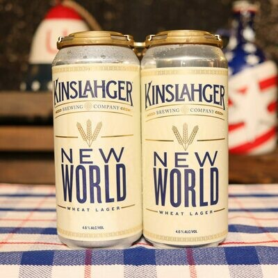 Kinslahger New World Wheat Lager 16 FL. OZ. 4PK Cans