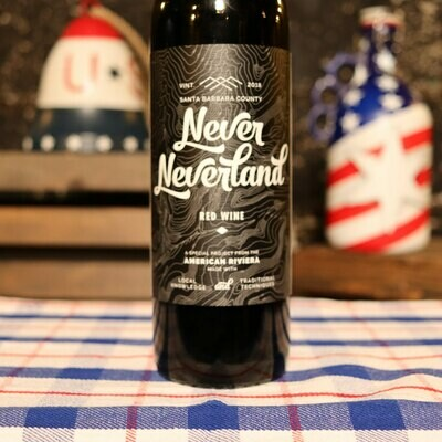 American Riviera Never Neverland Red Blend Santa Barbara California 750ml