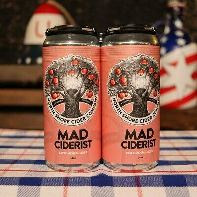 North Shore Cider Mad Ciderist Hey Jealously Gin Botanical 16 FL. OZ. 4PK Cans