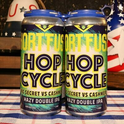 Short Fuse Hop Cycle Hazy DIPA 16 FL. OZ. 4PK Cans