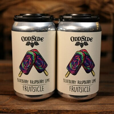Oddside Ales Blueberry Raspberry Lime Fruitsicle 12 FL. OZ. 4PK Cans