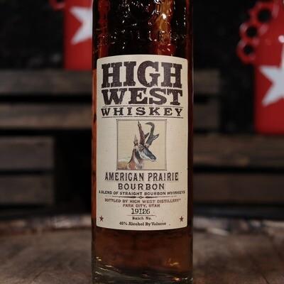 High West Whiskey Bourbon American Prairie 750ml.
