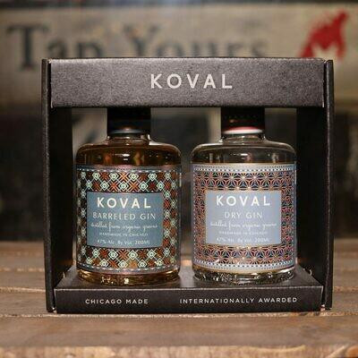 Koval GIN Barreled, Dry GIFT PACK 13.53 FL. OZ. 2 bottles