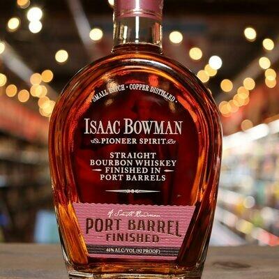 Isaac Bowman Port Barrel Bourbon 750ml.