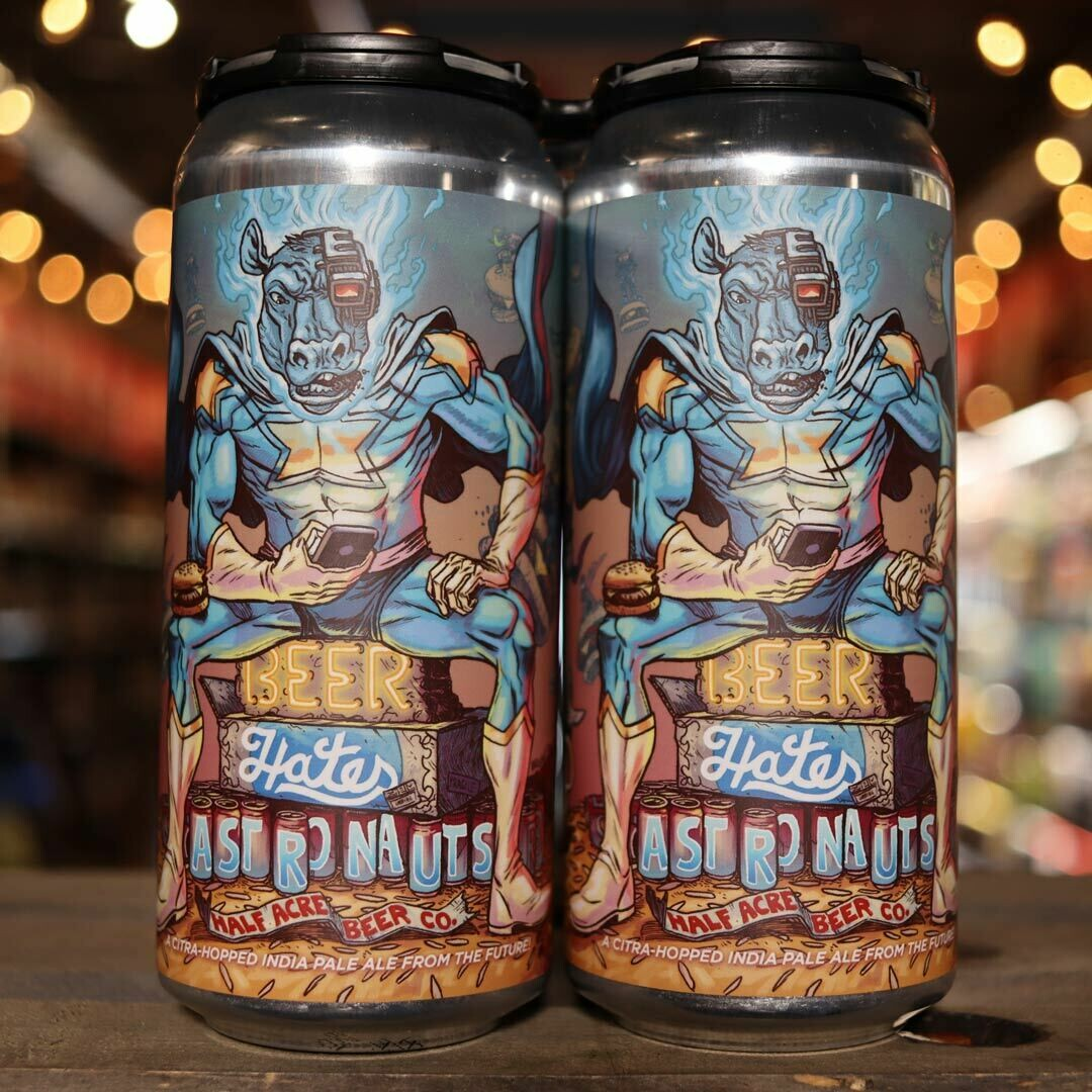 Half Acre Beer Hates Astronauts Imperial IPA 16 FL. OZ. 4PK Cans