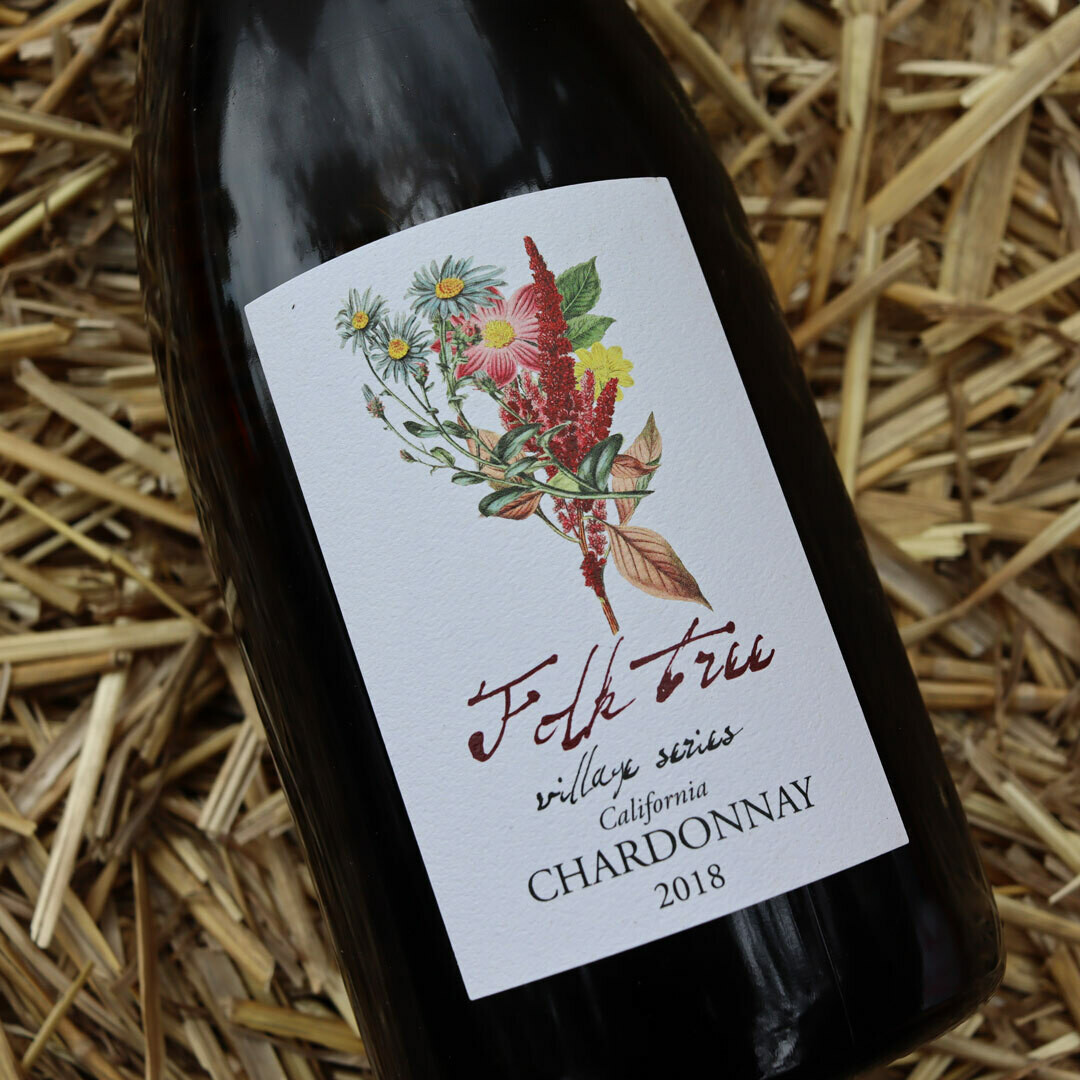 Folk Tree Village Series Chardonnay Buelton California 750ml.