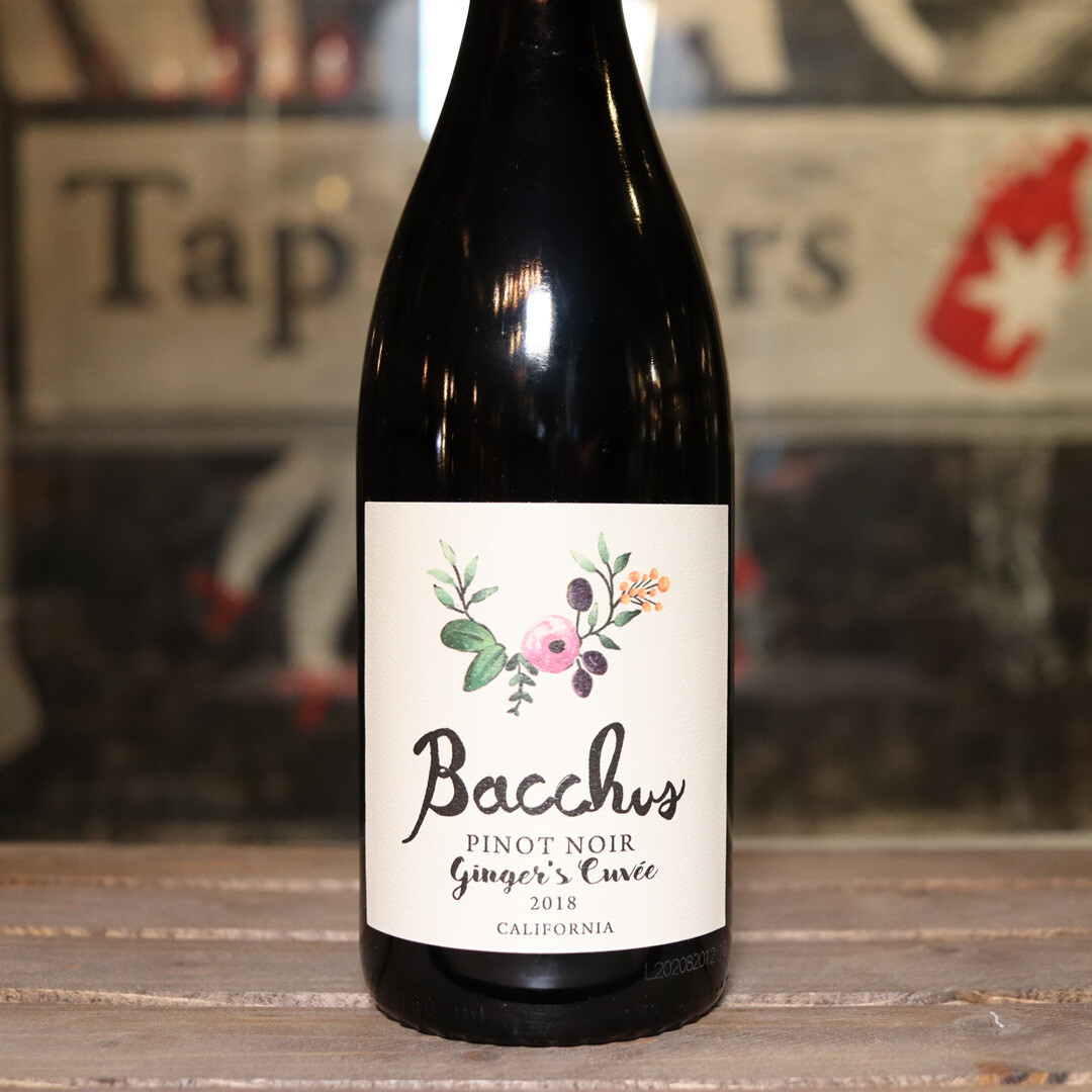Bacchus Ginger's Cuvee Pinot Noir California 750ml.