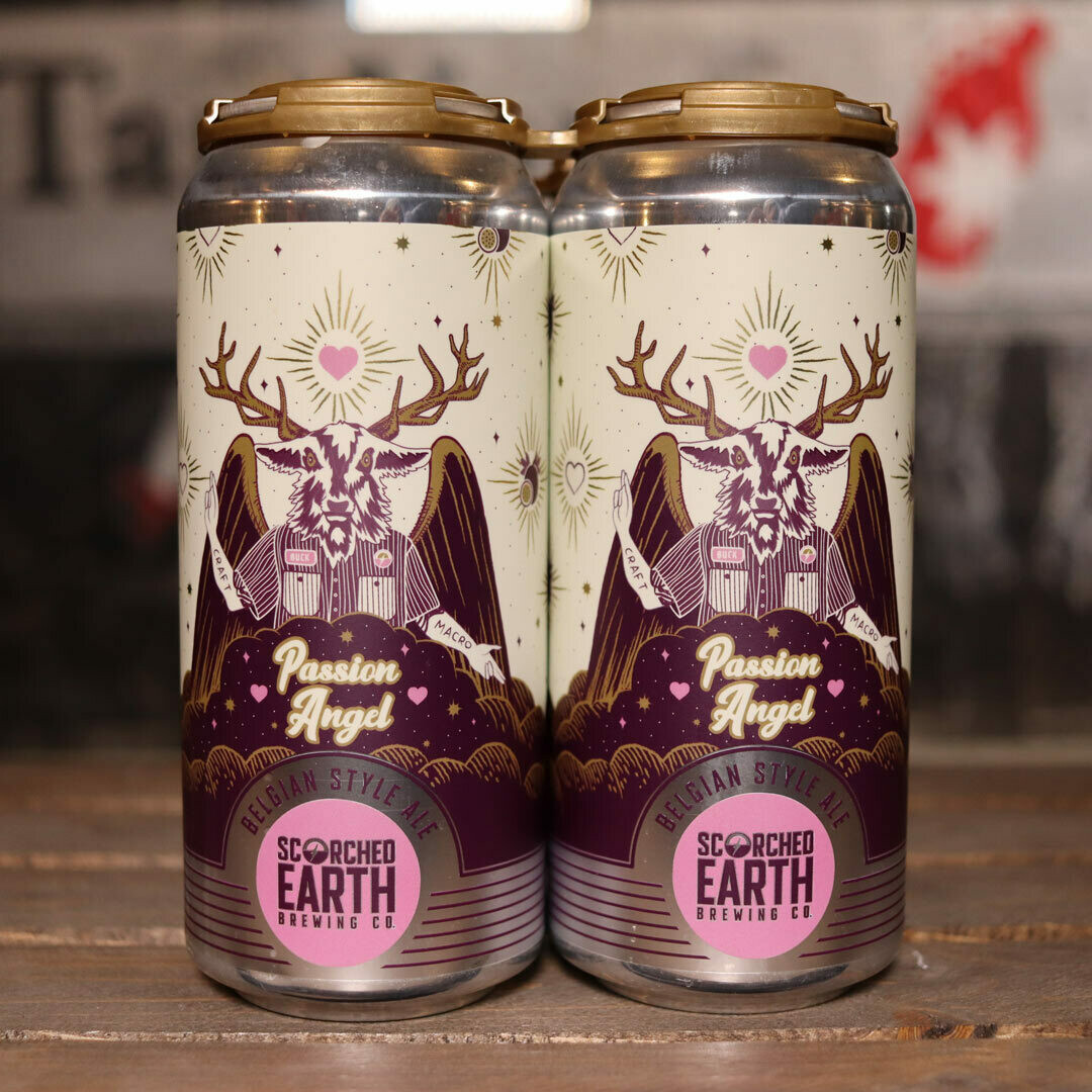 Scorched Earth Passion Angel Passion Fruit and Hibiscus Belgian Ale 16 FL. OZ. 4PK Cans
