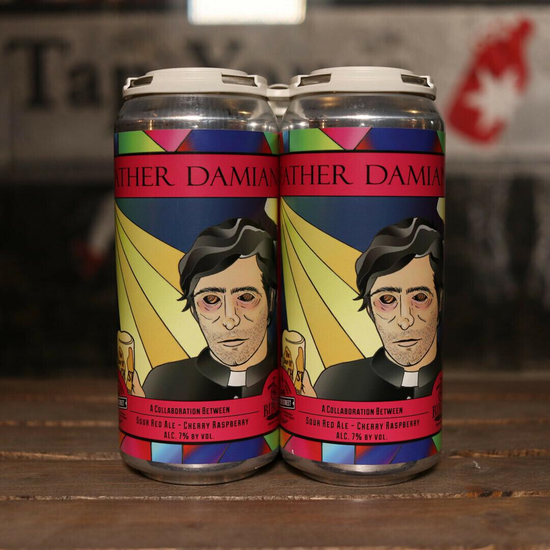 Church Street Father Damian Sour Red Ale w/Cherry & Raspberry 16 FL. OZ. 4PK Cans