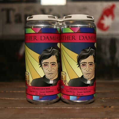 Church Street Father Damian Sour Red Ale w/Cherry & Raspberry 16 FL. OZ. 4PK Cans