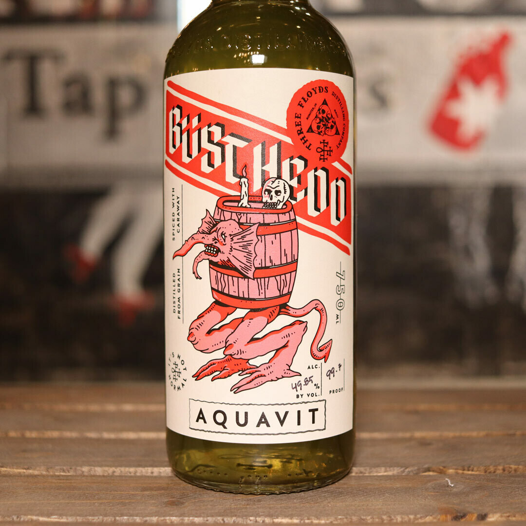 Three Floyds Busthedd Aquavit 750ml.