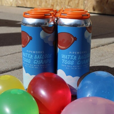 Pipeworks Water Balloon Toss Champs IPA w/Tangerines 16 FL. OZ. 4PK Cans