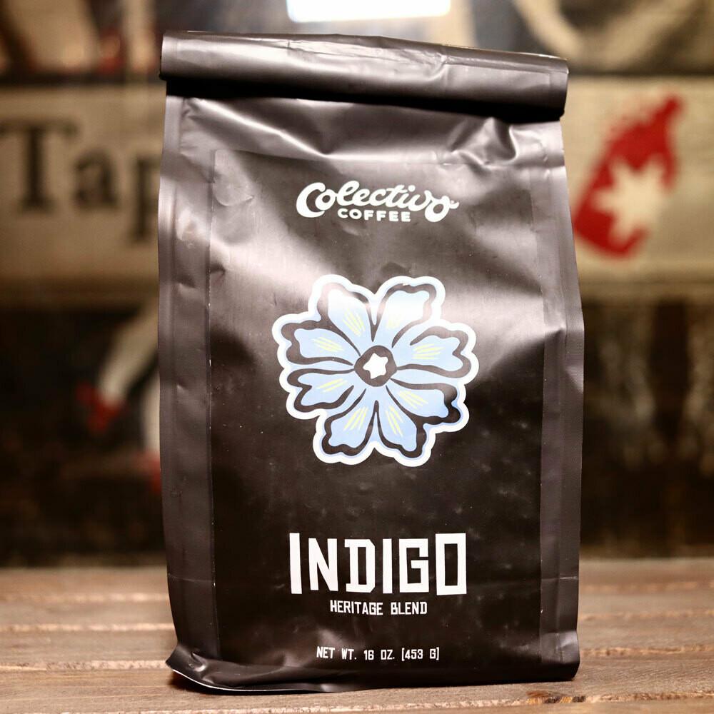 Colectivo Indigo Heritage Blend Ethiopia Whole Bean 16 OZ. Bag