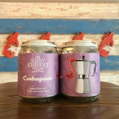 Saint Errant Contrapasso Imperial Stout w/Coffee and Vanilla Beans 8 FL. OZ. 4PK Cans