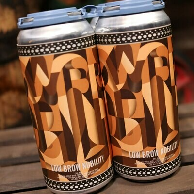 Short Throw Low Brow Nobility Imperial Stout 16 FL. OZ. 4PK Cans