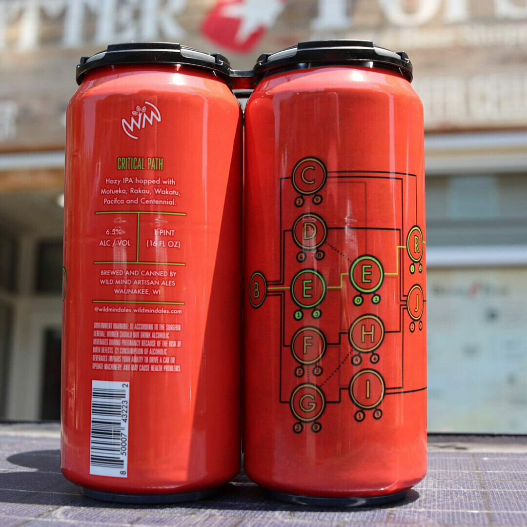 Wild Mind Artisan Ales Critical Path Hazy IPA 16 FL. OZ. 4PK Cans