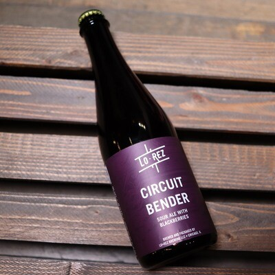 Lo Rez Circuit Bender Sour Ale w/Blackberries 16.9 FL. OZ.