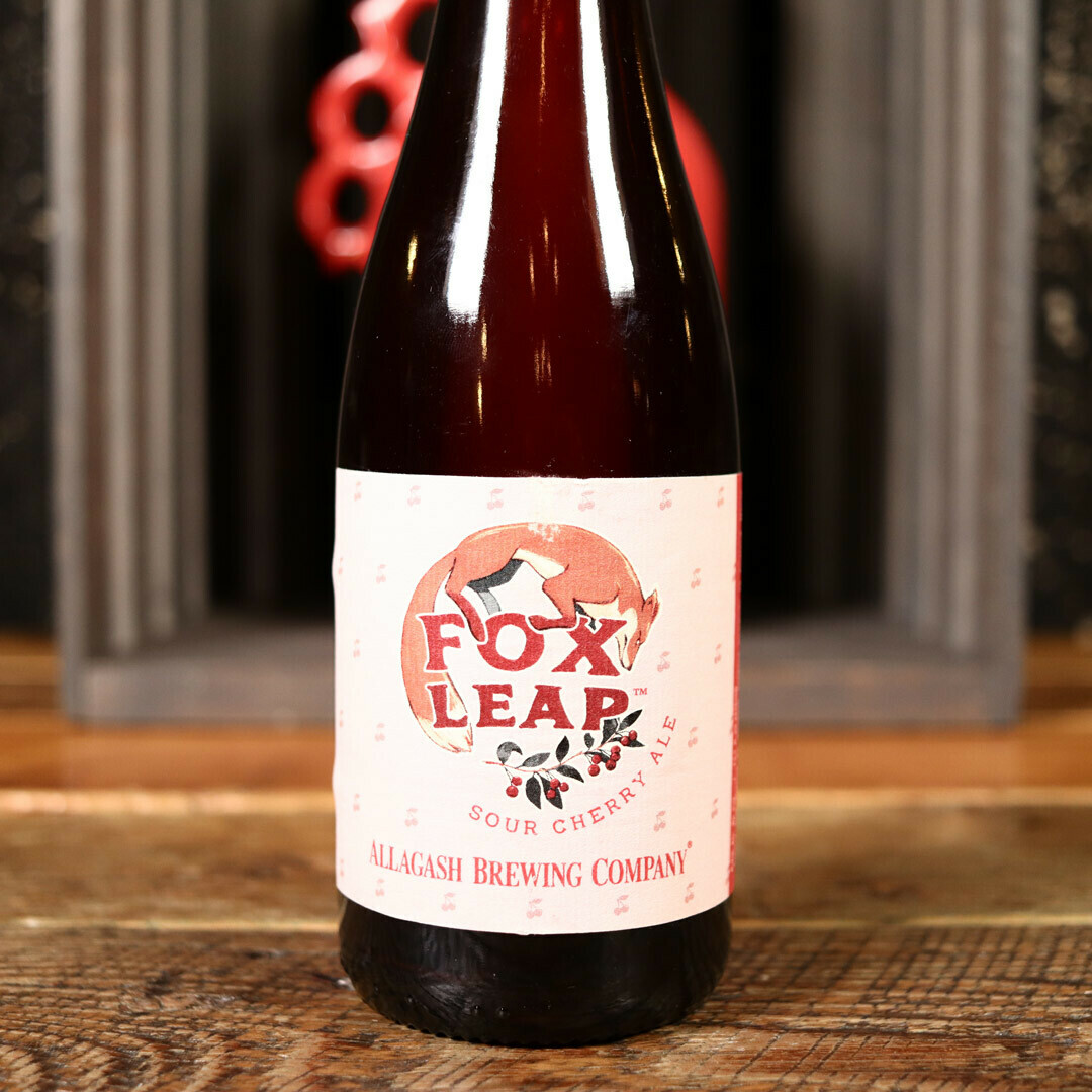 Allagash Fox Leap Sour Cherry Ale 375ml.