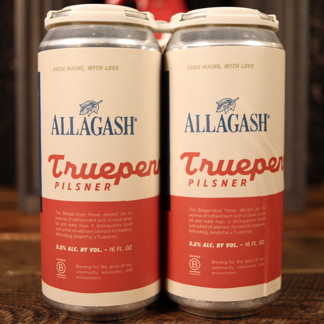 Allagash Truepenny Pilsner 16 FL. OZ. 4PK Cans