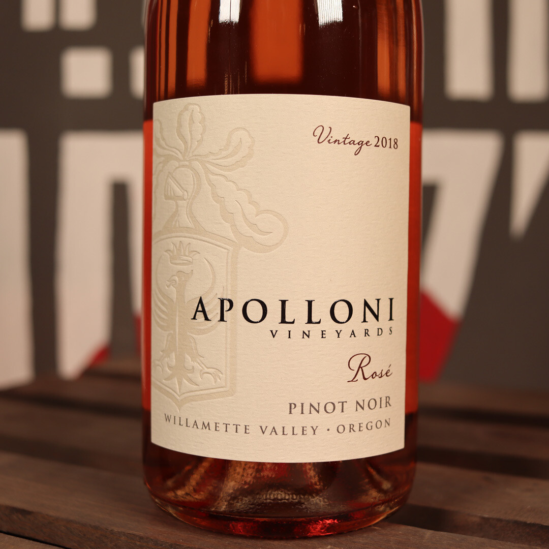 Apolloni Rosé from Pinot Noir Willamette Valley Oregon 750ml.
