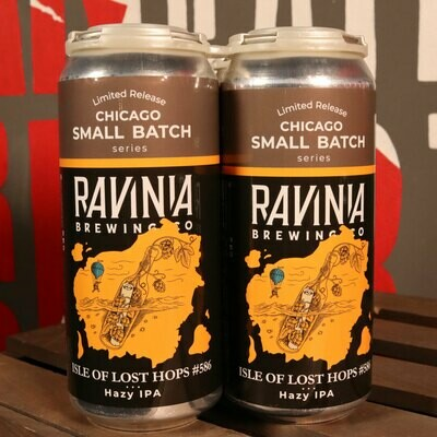 Ravinia Isle of Lost Hops #586 Hazy IPA 16 FL. OZ. 4PK Cans