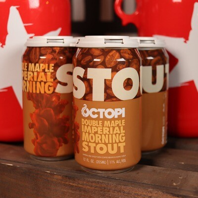 Octopi Double Maple Imperial Morning Stout 12FL. OZ. 4PK Cans