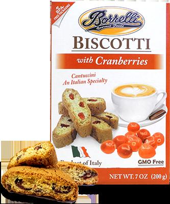 Borrelli - Biscotti w/Cranberries