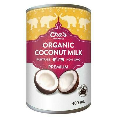 Cha's Organic Coconut Milk (400ml)