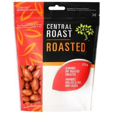 Central Roast - Almond Dry Roasted SALTED Nuts - 270g