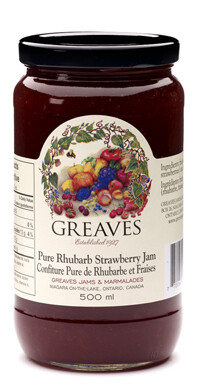 Greaves - Pure Rhubarb Strawberry Jam