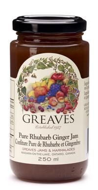 Greaves - Pure Rhubarb Ginger Jam
