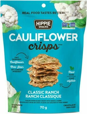 Hippie Foods - Cauliflower Crisps - Classic Ranch