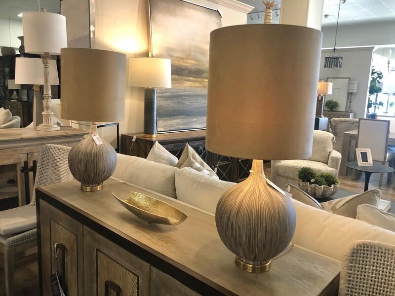 Charcoal Ceramic Table Lamp