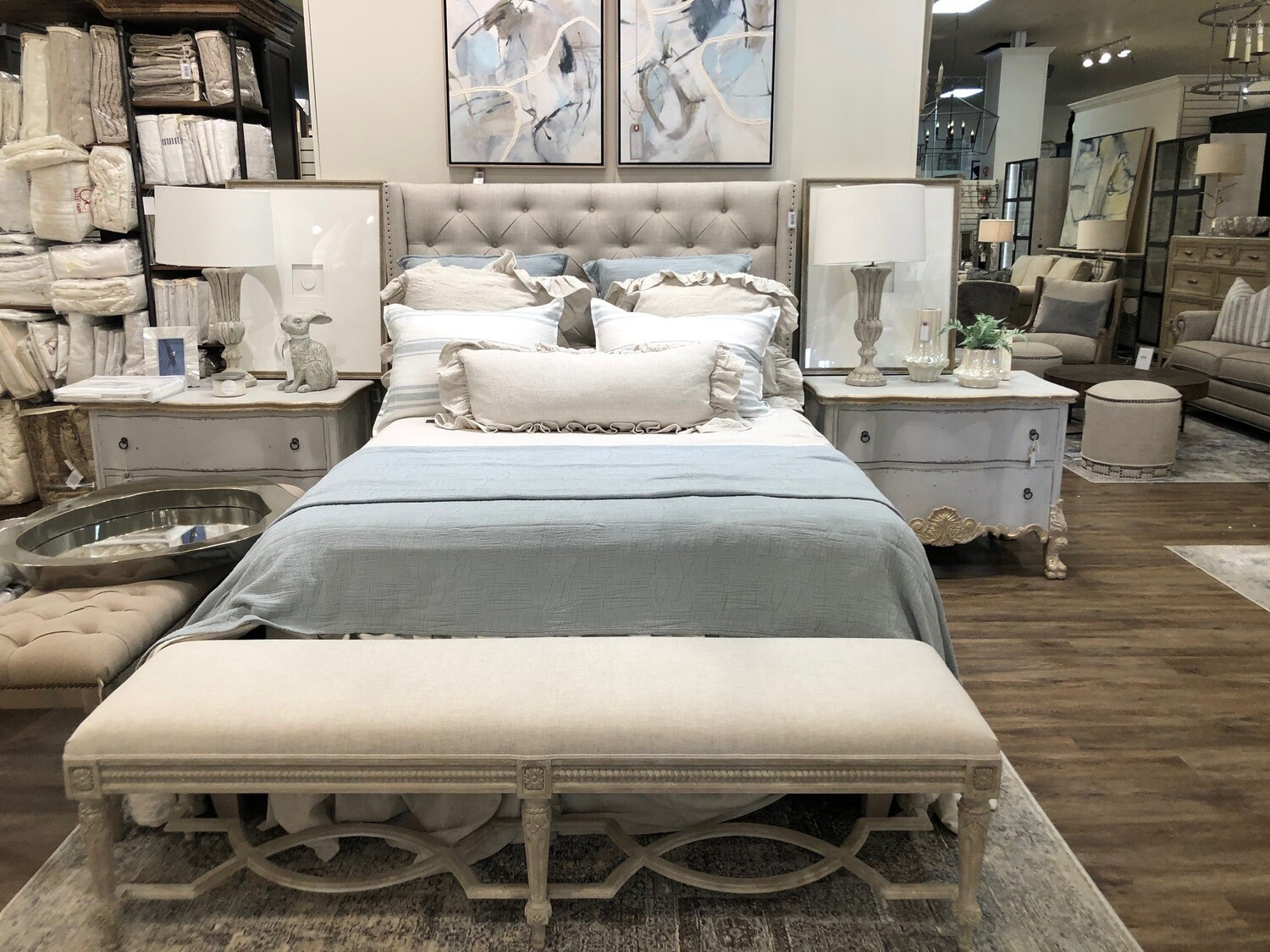 Beige Queen Bed