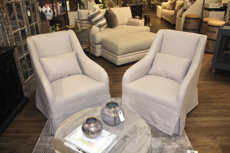 Grey Slipcover Chair