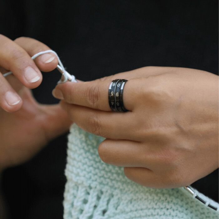 Knitpro row counter rings
