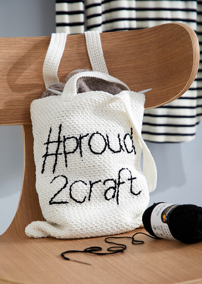 Gehaakte tas Proud2craft bag