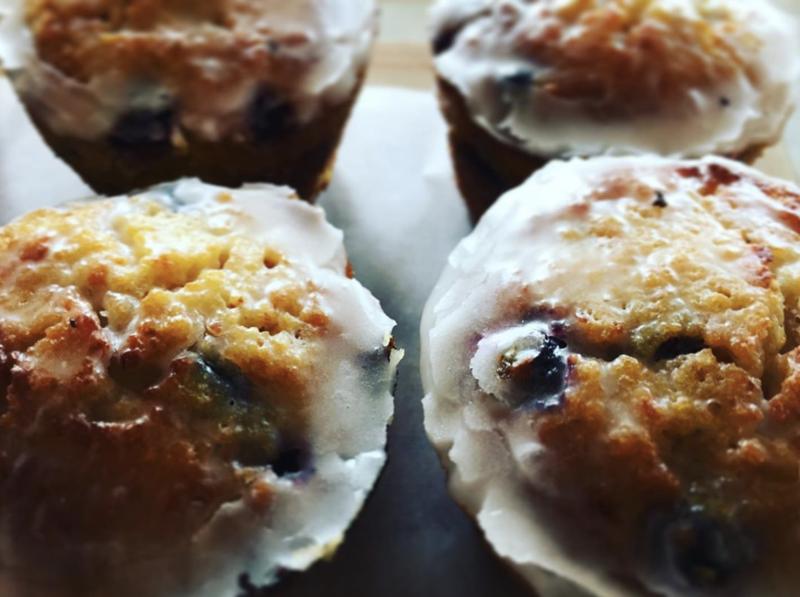 1/2 dozen Lemon Blueberry Polenta Cakes (gluten-free!)