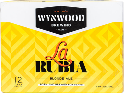 Rubia 12oz Cans Case (2-12packs)