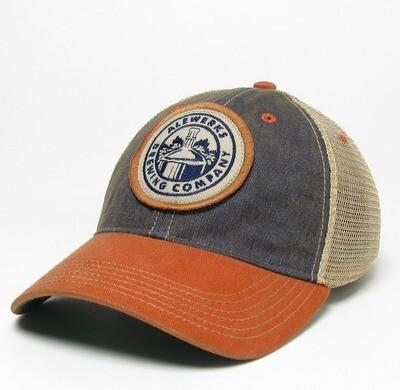 Navy/Orange Trucker Hat